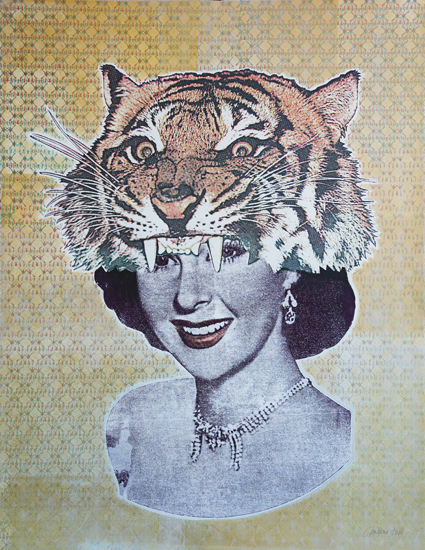 Jason CANTORO, Royal (Gold sounds), 2010, Serigraphie sur papier, 112 x 76 cm