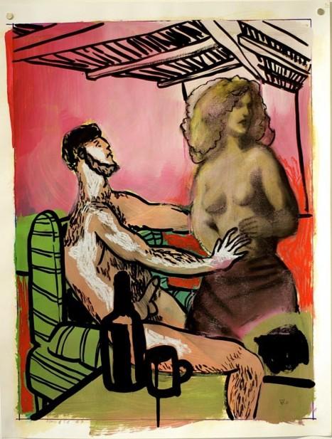 Zoltan Veevaete, Adam & Eve, huile sur toile, 2012
