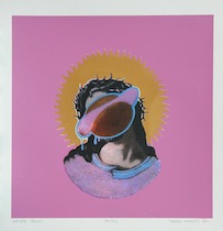 Robert Farmer-Hot-Dog-Jesus, 2011, SIlkscreen on paper, 16 x 13.5