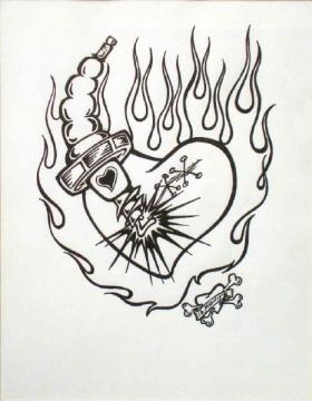 12 Midnite, Spark of Life, Encre sur papier