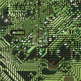 Circuit board dark green hi-tech texture