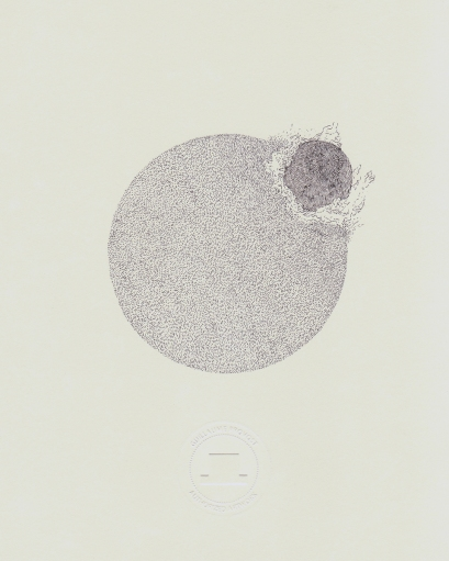 Guillaume Adjutor Provost, Un esprit sauvage, Encre et aquarelle sur papier, 25 cm x 20 cm, 2012