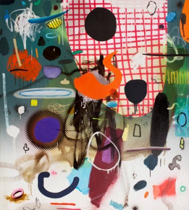 """Dan Brault, Making Noise, Acrylique et huile sur canevas, 54""""x48"""", 2013"""