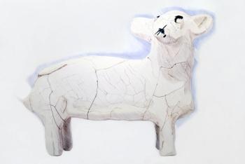 Jérôme Ruby, Le mouton, 2011  Stylo bille et crayon de bois sur papier  132 x 180 cm
