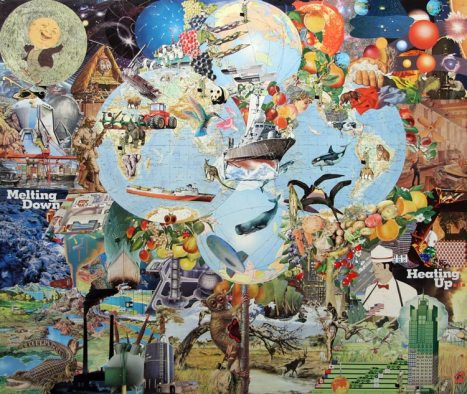 Scott P Ellis, Wild, Ripe and Ready for Plundering, collage on panel, 36 x 42 inches, 2008