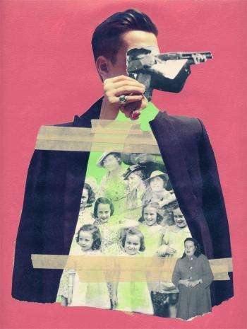 Jean-Francois Poisson, Sans titre, 2012, collage et peinture, 11x17