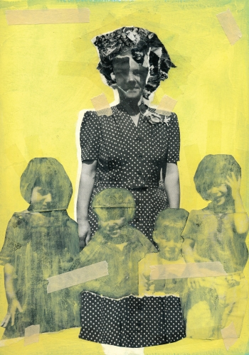 Jean-Francois Poisson, Sans titre, 2012, collage et peinture, 8,5x11