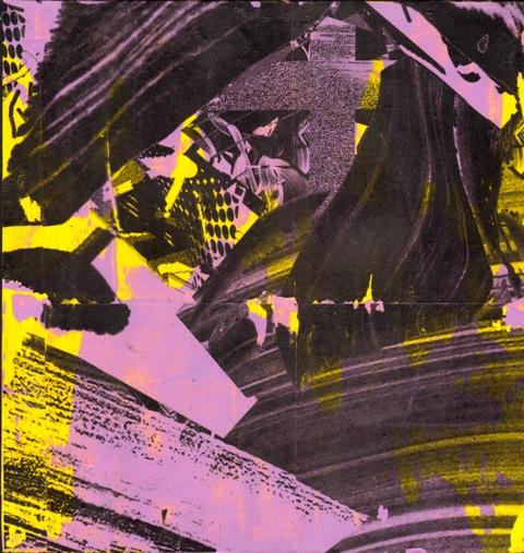 """Kris Chatterson, Sans titre, acrylique sur papier, 14.5""""x 13.7"""", 2012"""