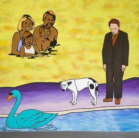 Paul Brunet, Finalement, Acrylique et peinture aérosol sur toile, 122 X 122 cm. 2009