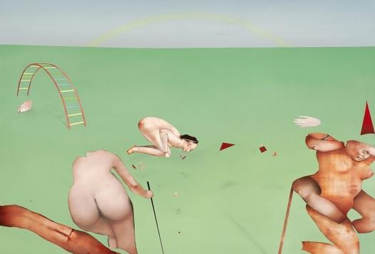 Alexis Lavoie, Découpe ( 7 ) : Parade, huile sur toile, 2011.