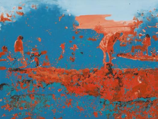 John Ancheta, Bunker, huile sur toile, 2013,  152 x 203cm http://battatcontemporary.com/english/exhibitions/topographies