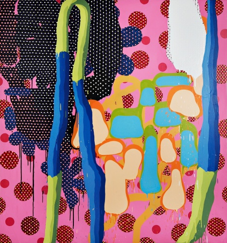 John Kissick, Big Violent Green, 2010, huile sur toile. http://www.galeriebac.com/contemporains/john-kissick/