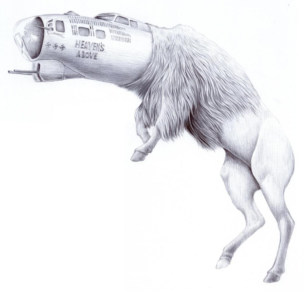 """Jesse Hazelip, Heaven, Crayon sur papier, 24x40"""", 2013"""