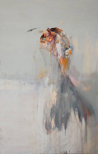 Regina Nieke, Der erste Mensch, Huile sur toile, 170 x 110 cm, 2009