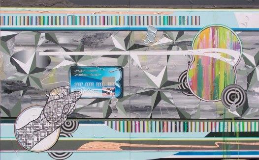 Frank Ahlgrimm, System Selector, 2007, Acrylique, huile et résine sur toile.