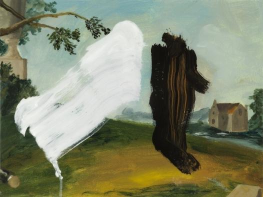 Henny Acloque, Intrusion 1, médium mix, 30 x 39 cm
