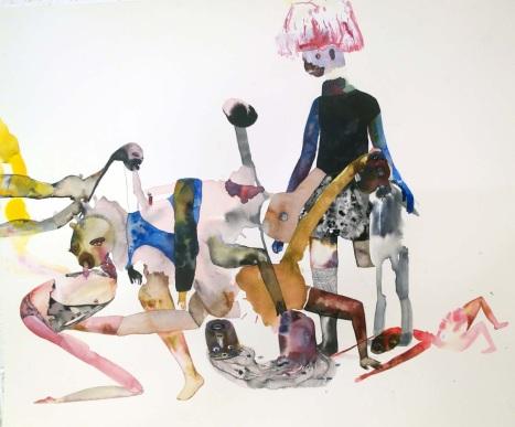 """Maja Ruznic, """"How It All Began"""" Encre et aquarelle sur papier, 2013"""