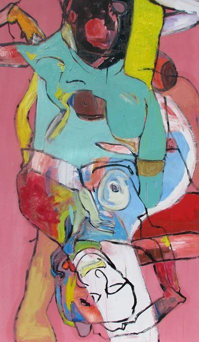 Nathalie Bruvels, Belle 30, huile sur toile, 60 x 30 pouces, 2012