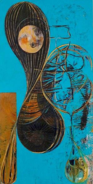 Nicholas Byrne, Hosier, Huile sur lin, 2010, 140 x 70 cm
