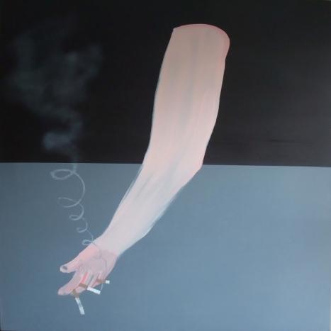 Sean Penlington, Dead arm, huile sur toile, 120 cm X 120 cm, 2011