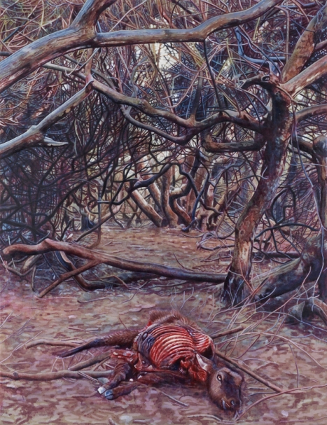 Greg Rook, And this, too, shall pass away 2, Huile sur lin, 152 x 198 cm, 2009