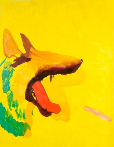 Paulina Michnowska, Yellow Dog, Huile sur toile, 120 x 90 cm, 2011