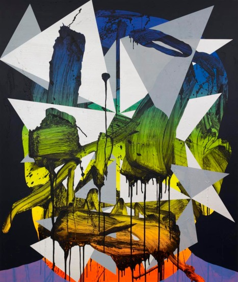 Luke Rudolf, Portrait no. 18, Acrylic and oil on canvas, 174 x 145 cm, 2010