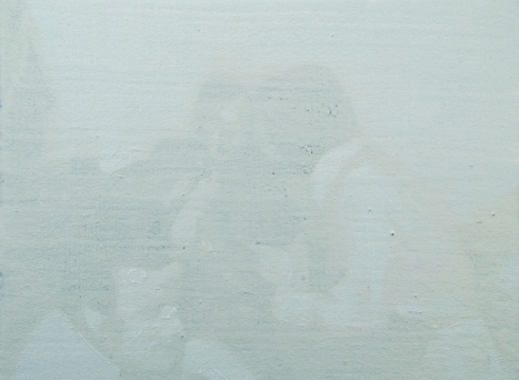 Maeve Curtis, Fixing the Shadows, huile sur toile, 21 x 28 cm, 2010