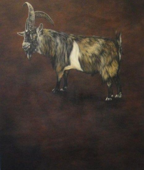 Dermot Seymour, Border Cross, huile sur toile, 220 x 163cm, 2003