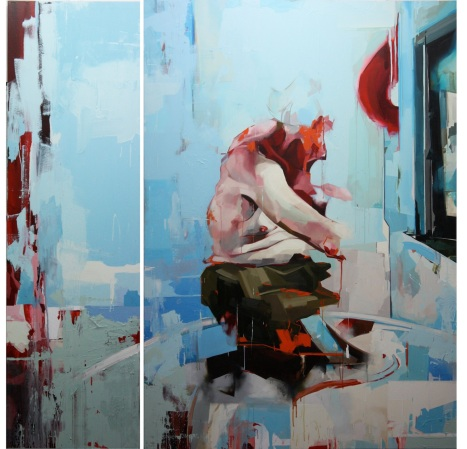 Benjamin Cohen, Study of a Figure and a Window, 2010, huile sur toile, 200 x 200 cm