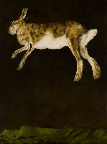 Dermot Seymour, Hiberno Hare,  huile sur toile - 220x163 cm, 2009