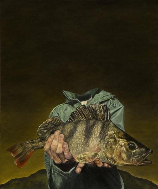 Dermot Seymour, Hiberno Head, huile sur toile, 120 x 100, 2007