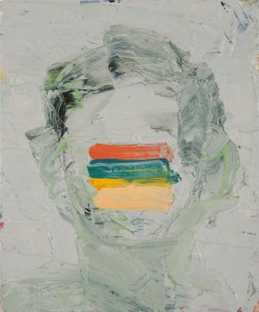 Diana Copperwhite Blank Stare, Huile sur toile, 30 x 25 cm, (2013)