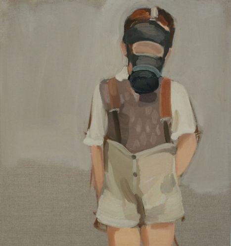 Share Favorite Gideon Rubin Gasmask, 2007 48 × 40 1/5 in 122 × 102 cm