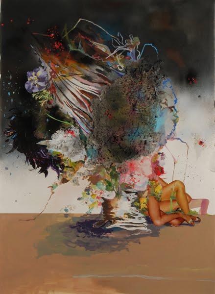 Lauren Rice, Aphrodite, collage, gouache et encre sur papier, 2010