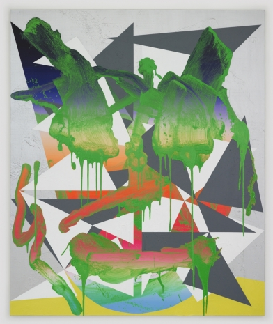 Luke Rudolf, Portrait No. 20, Acrylique et huile sur toile, 2010, 175 x 145 cm