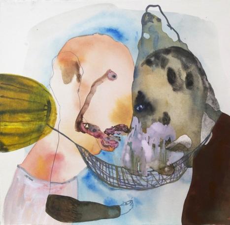 Maja Ruznic , « Decisions », 12 pouces x 12 pouces, encre et acrylique sur papier, 2013
