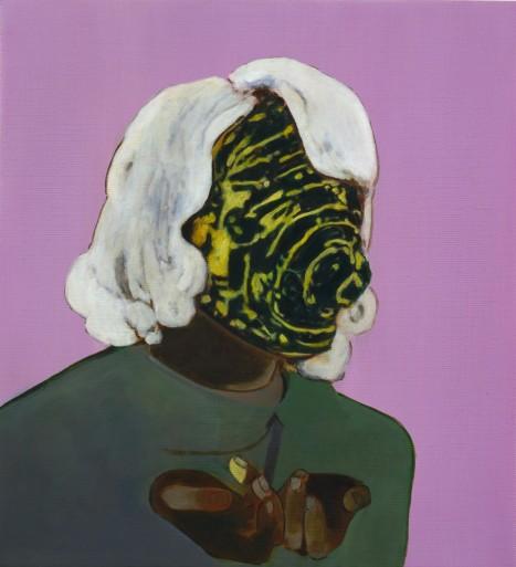 Milena Dragicevic, Supplicant -13, huile sur toile, 2008, 61 x 56,5 cm
