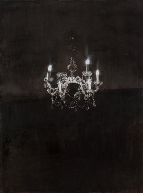 Axel Geis, Chandelier 3, huile sur toile, 240 x 180 cm, 2013