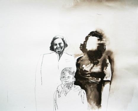 Daniel Domig, family, aquarelle sur papier, 34 cm x 42cm, 2004jpg