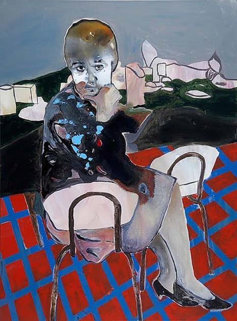 Maya Bloch, Sans titre, acrylique sur toile, 2010.