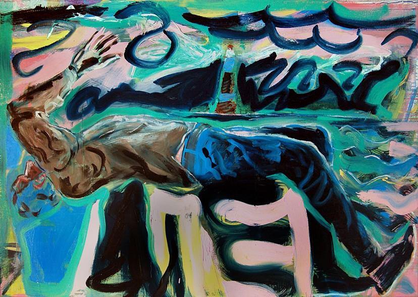 Simon Bayliss, Wreck, huile et acrylique sur toile, 2012, 170 x 120 cm.