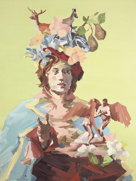 Stephen Dunlop, Young man after Frans Hals, huile sur lin, 2012