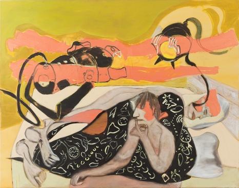 Moshe Gershon, Projectors, huile sur toile, 140x165 cm, 2012.